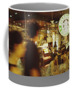 People At One Of The First Starbucks Coffee Mug by Justin Guariglia