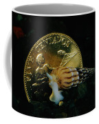 Philippine Gold Coin With Turret Shell Coffee Mug by Paul Zahl
