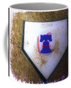 Phillies Home Plate Coffee Mug by Bill Cannon