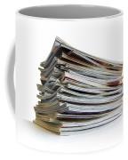 Pile Of Magazines Coffee Mug by Carlos Caetano