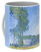 Poplars Coffee Mug by Claude Monet