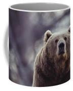 Portrait Of A Kodiak Brown Bear Coffee Mug by Joel Sartore