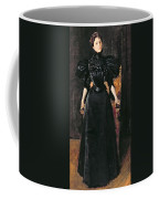 Portrait Of A Lady In Black Coffee Mug by William Merritt Chase