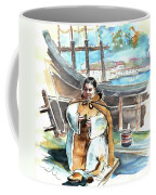 Preaching The Bible On The Conquistadores Boat In Vila Do Conde In Portugal Coffee Mug by Miki De Goodaboom