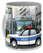 Proud Police Car In The City  Coffee Mug by Elaine Plesser