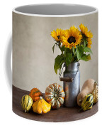 Pumpkins And Sunflowers Coffee Mug by Nailia Schwarz