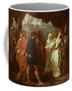 Queen Philippa Interceding For The Lives Of The Burghers Of Calais Coffee Mug by Benjamin West