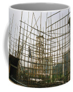 Rare Bamboo Scaffolding Used In Hong Coffee Mug by Justin Guariglia