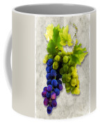 Red And White Grapes Coffee Mug by Elaine Plesser