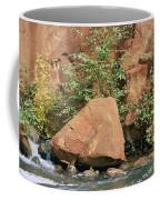 Red Rocks, Fall Colors And Creek, Oak Coffee Mug by Rich Reid