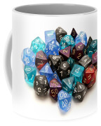 Role-playing Dices Coffee Mug by Fabrizio Troiani