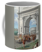 Roman Soldiers Lead Chained Captives Coffee Mug by H.M. Herget