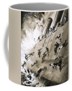 Sailors Escaping Hms Natal Which Caught Fire In Cromerty Firth In 1915 Coffee Mug by English School