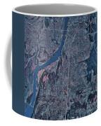 Satellite View Of Little Rock, Arkansas Coffee Mug by Stocktrek Images