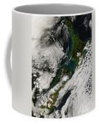 Satellite View Of New Zealand Coffee Mug by Stocktrek Images