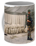 Scenery Of A Checkpoint Used Coffee Mug by Luc De Jaeger