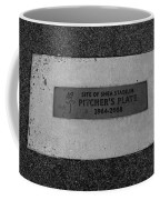 Shea Stadium Pitchers Mound In Black And White Coffee Mug by Rob Hans