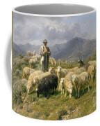 Shepherd Of The Pyrenees Coffee Mug by Rosa Bonheur