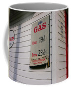 Signs On A Historic Gas Station Offer Coffee Mug by Amy White & Al Petteway