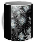 Snowy Night IIi Fractal Coffee Mug by Betsy Knapp