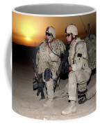 Soldiers Call In Air Support Coffee Mug by Stocktrek Images