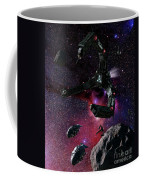 Space Scene Inspired By The Novels Coffee Mug by Rhys Taylor