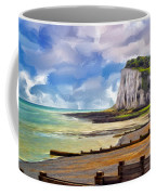 St. Margaret's Bay At Dover Coffee Mug by Dominic Piperata