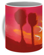 Sunset Abstract Trees Coffee Mug by Pixel Chimp