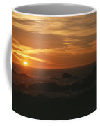 Sunset Over The Pacific Ocean Coffee Mug by Todd Gipstein