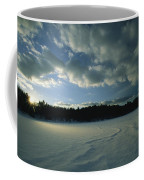 Sunset Viewed From The Frozen Surface Coffee Mug by Tim Laman