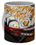 Sushi And Chopsticks Coffee Mug by Carolyn Marshall