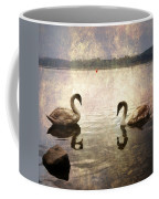 swans on Lake Varese in Italy Coffee Mug by Joana Kruse