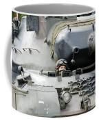 Tank Driver Of A Belgian Leopard 1a5 Coffee Mug by Luc De Jaeger