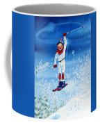 The Aerial Skier 15 Coffee Mug by Hanne Lore Koehler