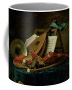 The Attributes Of Music Coffee Mug by Anne Vallaer-Coster