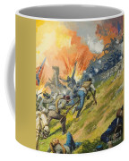 The Battle Of Gettysburg Coffee Mug by Severino Baraldi