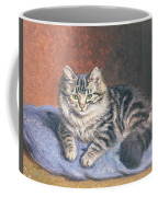The Blue Cushion Coffee Mug by Horatio Henry Couldery