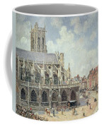 The Church Of Saint Jacques In Dieppe Coffee Mug by Camille Pissarro