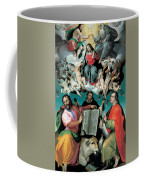 The Coronation Of The Virgin With Saints Luke Dominic And John The Evangelist Coffee Mug by Bartolomeo Passarotti