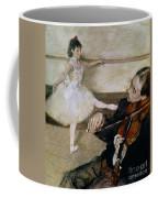 The Dance Lesson Coffee Mug by Edgar Degas