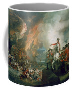 The Defeat Of The Floating Batteries At Gibraltar Coffee Mug by John Singleton Copley