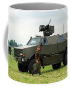 The Dingo II In Use By The Belgian Army Coffee Mug by Luc De Jaeger