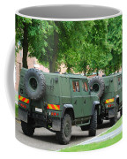 The Iveco Lmv Of The Belgian Army Coffee Mug by Luc De Jaeger