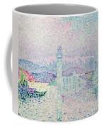 The Lighthouse At Antibes Coffee Mug by Paul Signac