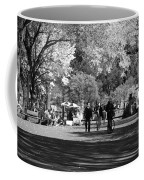 The Mall At Central Park In Black And White Coffee Mug by Rob Hans