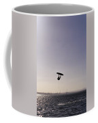 The Silhouette Of A Person Kite Coffee Mug by Jason Edwards