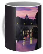 The Tiber River And The Dome Of St Coffee Mug by Richard Nowitz