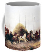 Threshing Wheat In New Mexico Coffee Mug by Thomas Moran