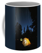 Time Exposure Of A Campers Tent Coffee Mug by Rich Reid