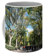 Trees On The Mall In Central Park Coffee Mug by Rob Hans